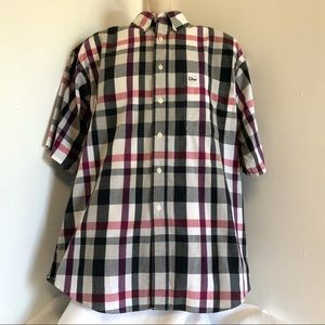 Christian Dior Shirt L Plaid Monsieur Button Front